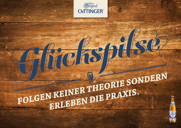 Kampagne Oettinger Glückspilse